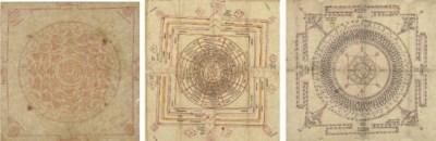 Three paintings of tantric cir