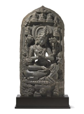 A blackstone stele of Manjushr