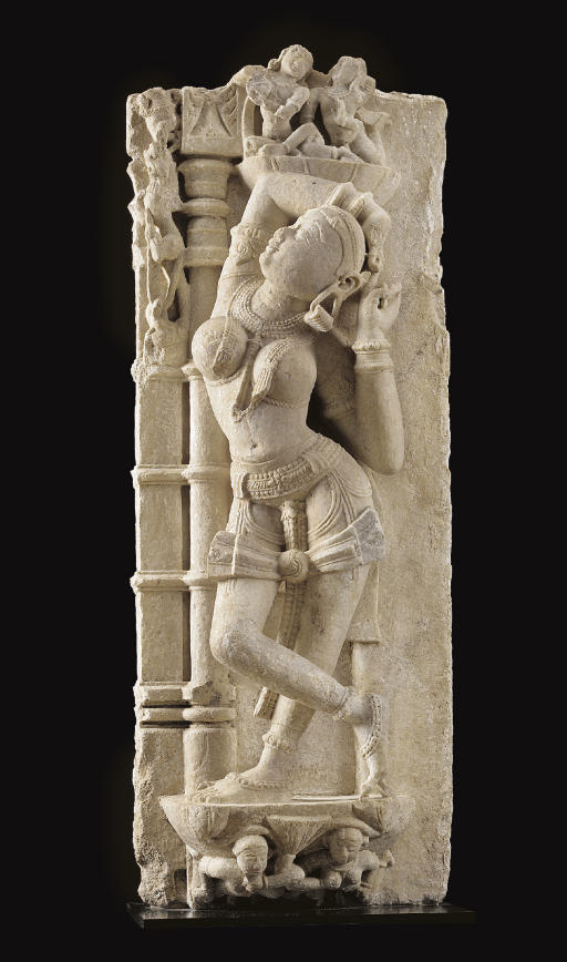A marble figure of a devi