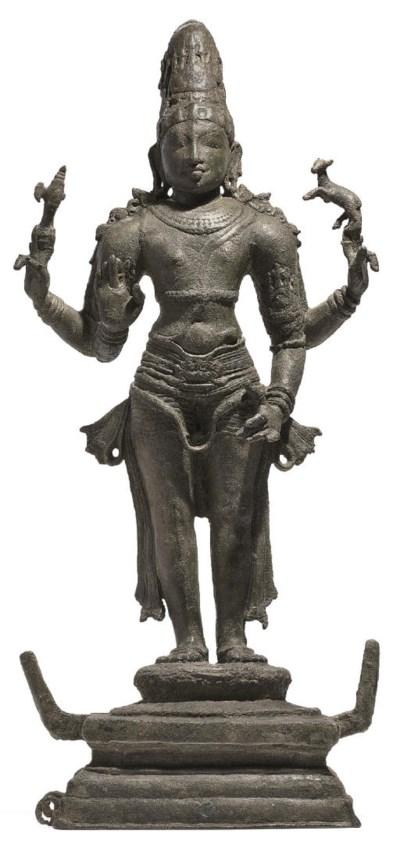 A bronze figure of Shiva