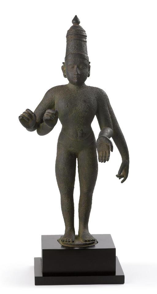 A rare and unusual bronze figu