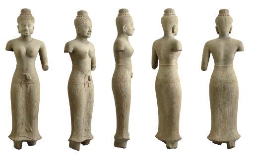 An important sandstone figure of Uma