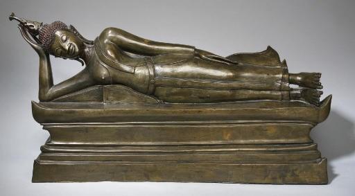 A large bronze figure of a rec