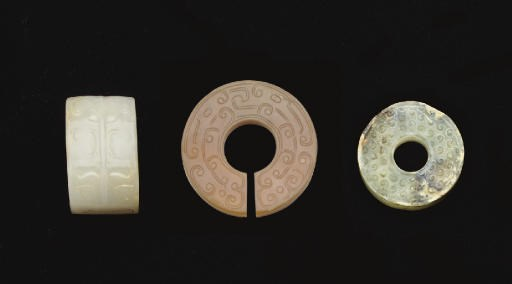 THREE EARLY JADE CARVINGS