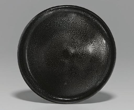 A RARE 'OILSPOT' BLACK-GLAZED