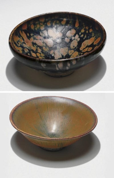 A RUSSET-SPLASHED BLACK-GLAZED