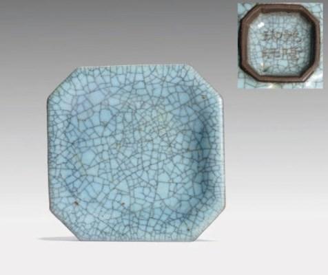 AN UNUSUAL SMALL SKY-BLUE CRAC