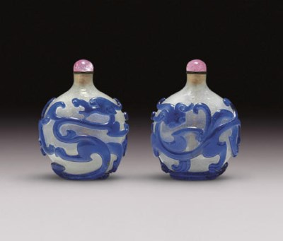 **A WELL-CARVED BLUE OVERLAY B