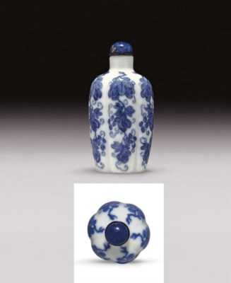 **AN UNUSUAL BLUE AND WHITE LO