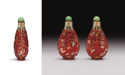 **AN UNUSUAL RED GLASS OVERLAY