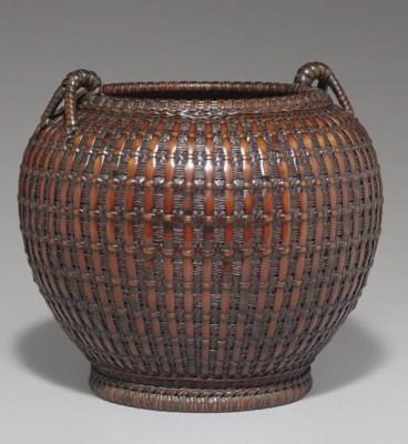 A Bamboo Basket for Flower Arr