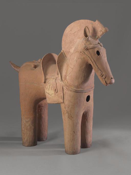 A Haniwa Model of A Horse