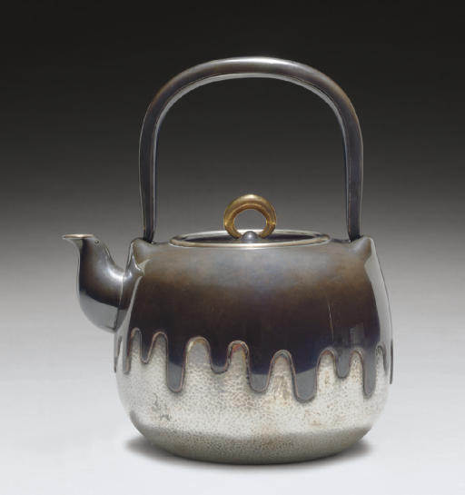 A Silver and Shakudo Kettle