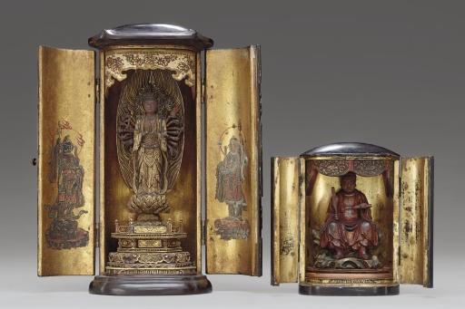 Two Miniature Portable Shrines