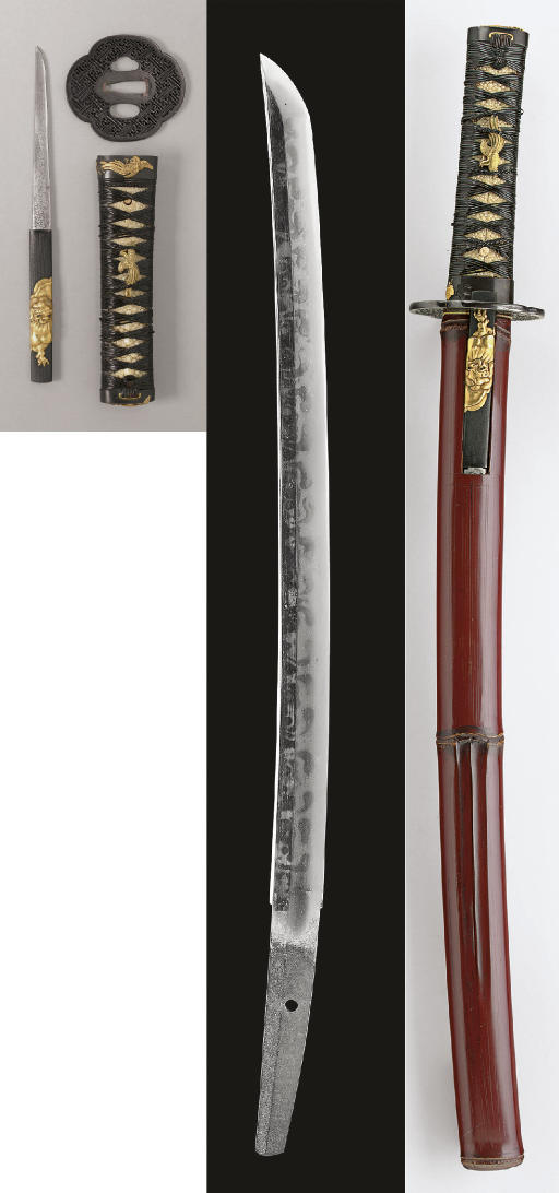 A Wakizashi in Red-Lacquer Kos