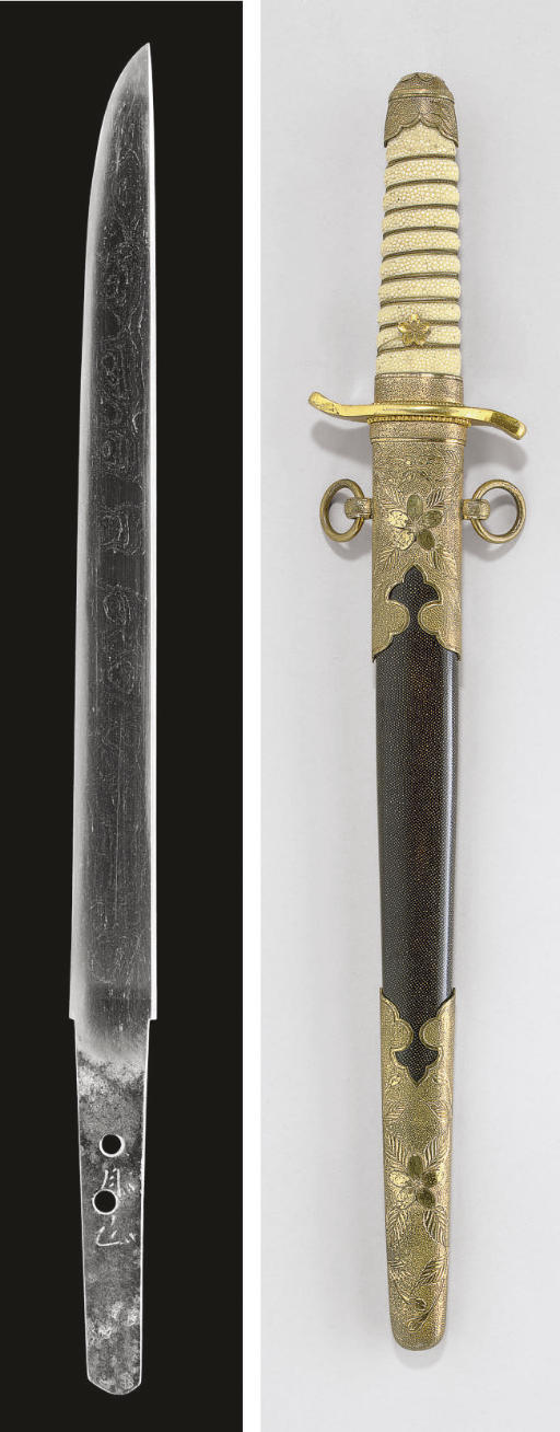 An Iyo Tanto in Mounts and a Gassan School Tanto in Naval Mounts