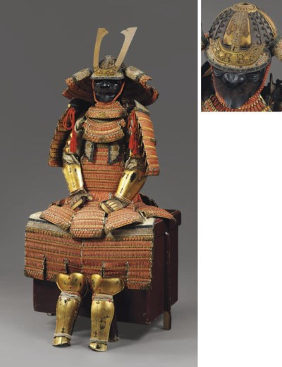 An Orange-Laced Domaru Suit of