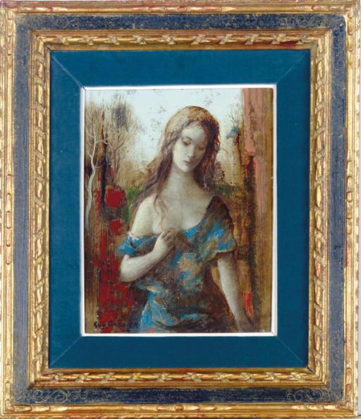 Girl in a blue dress