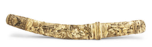 A JAPANESE IVORY CARVED SWORD
