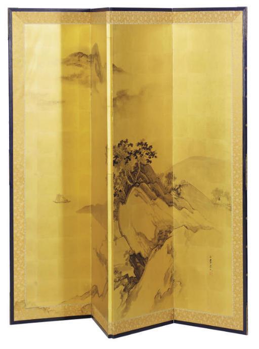 A JAPANESE FOUR-PANEL FLOOR SC
