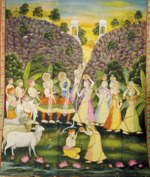 AN INDIAN PICCHVAI WITH KRISHN