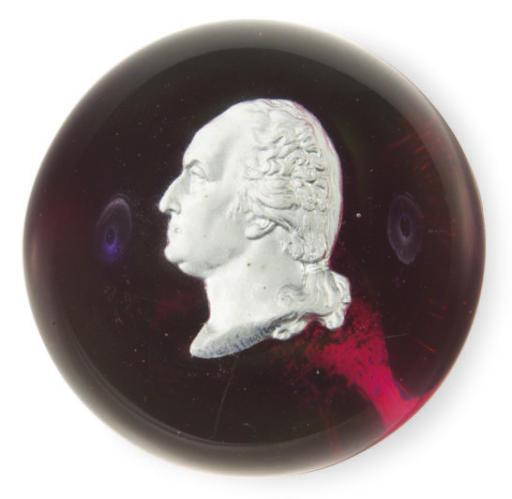 A SULPHIDE RUBY-GROUND GLASS P
