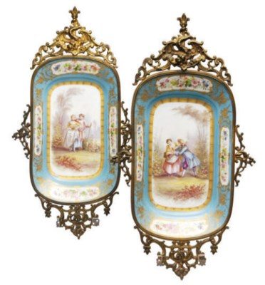 TWO GILT-METAL MOUNTED SÈVRES