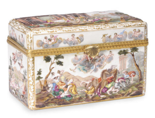 A CAPODIMONTE-STYLE BOX AND CO