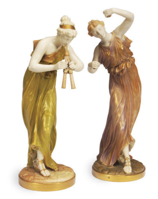 TWO ENGLISH PORCELAIN FIGURES