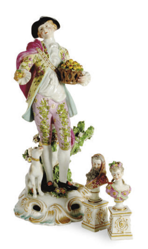 A PAIR OF FRENCH PORCELAIN SMA