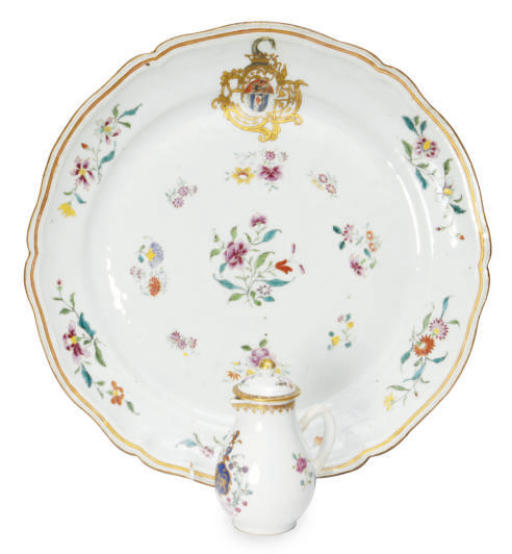 A LARGE FAMILLE ROSE ARMORIAL