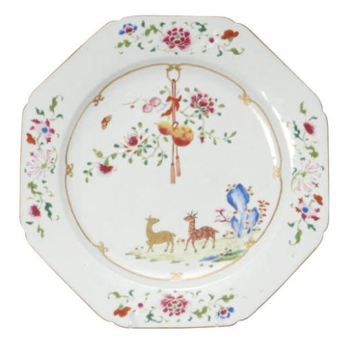A LARGE FAMILLE ROSE DISH,