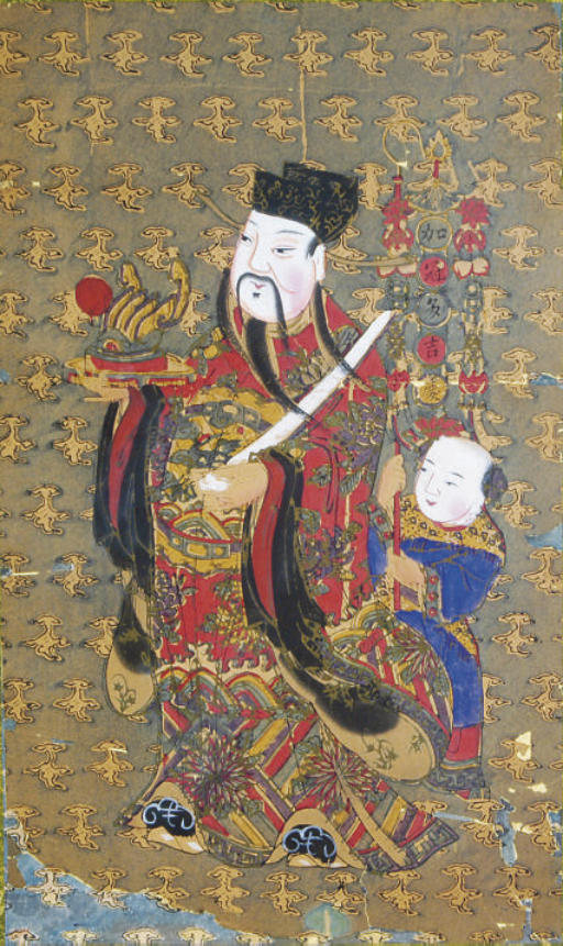 A PAIR OF CHINESE WOODBLOCK PR