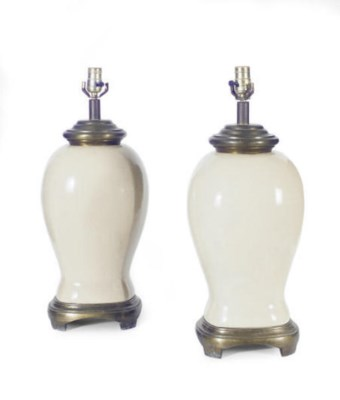 A PAIR OF CRACKLE GLAZED VASES