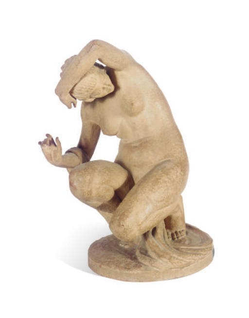 A FRENCH TERRACOTTA FIGURE,