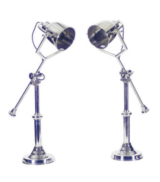 A PAIR OF CHROME ADJUSTABLE TA