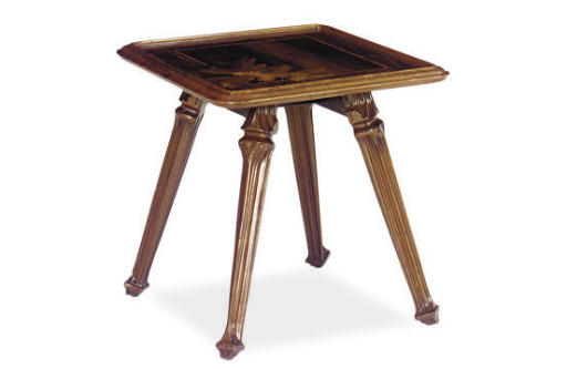 A FRENCH ROSEWOOD, WALNUT AND