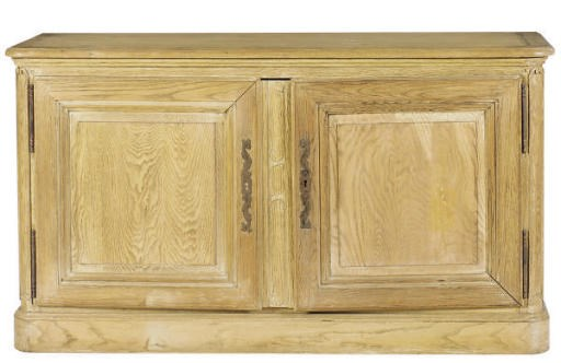AN OAK SIDE CABINET,