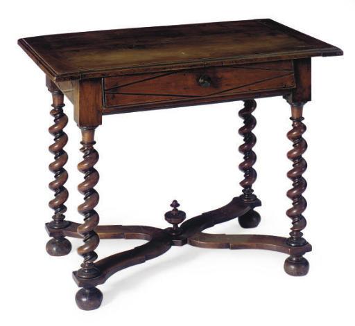 A DUTCH WALNUT SIDE TABLE,