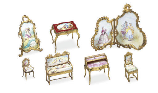 A GROUP OF VIENNESE GILT-METAL