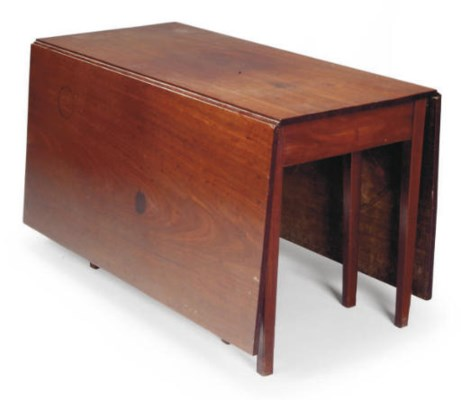 A MAHOGANY DROP LEAF DINING TA