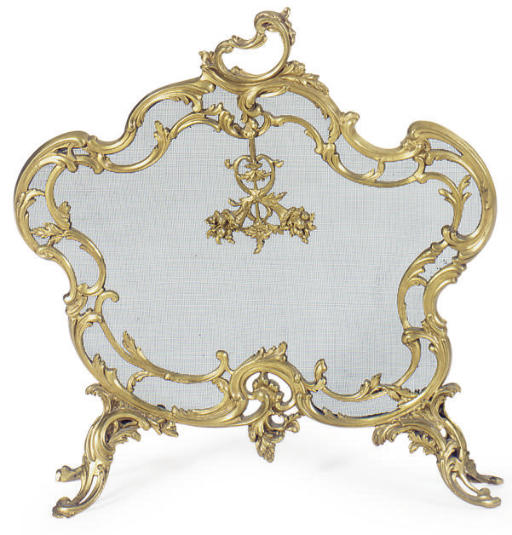 A FRENCH ORMOLU FIRESCREEN,