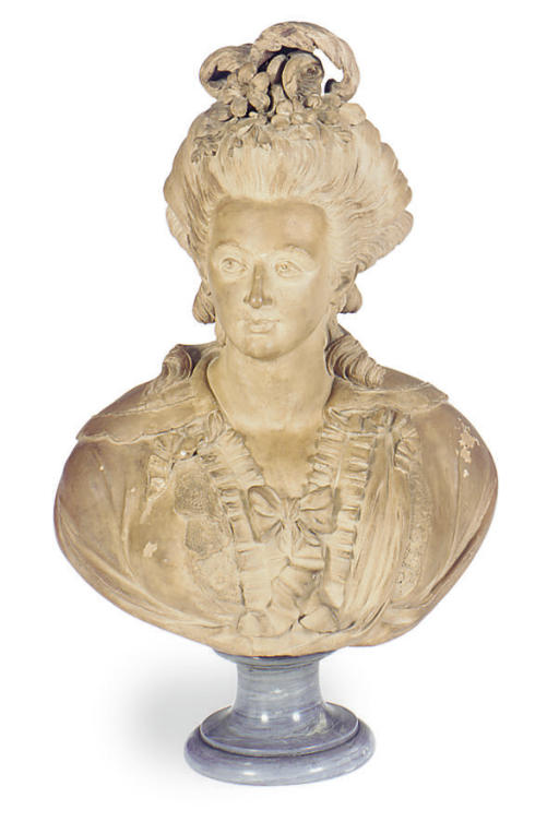 A FRENCH TERRACOTTA BUST OF MA