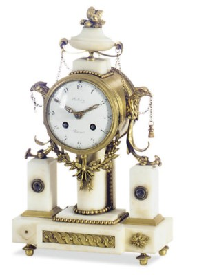 A FRENCH ORMOLU-MONTED WHITE M