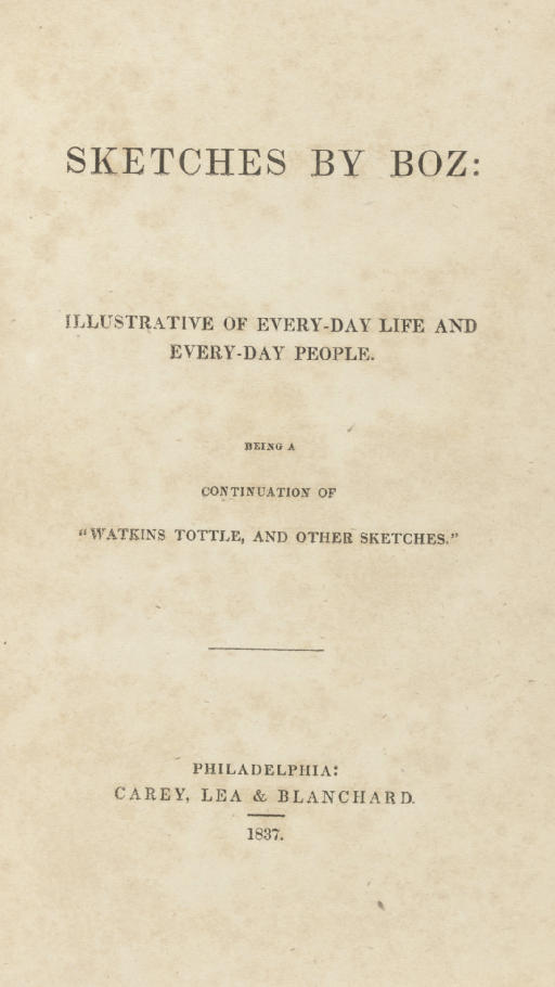 [DICKENS, Charles]. Sketches b