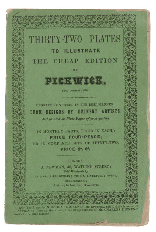 [PICKWICK PAPERS] -- [ONWHYN,