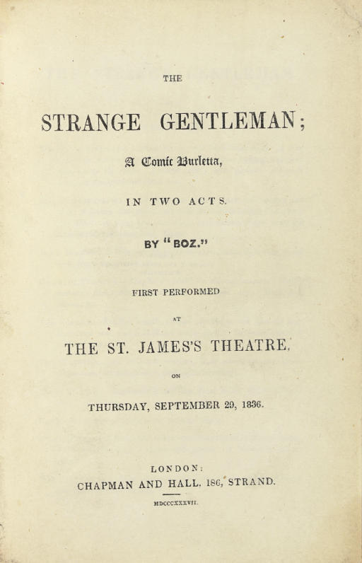[DICKENS, Charles]. The Strang