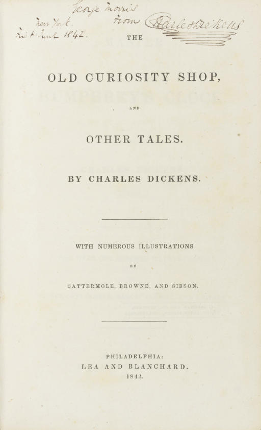 DICKENS, Charles. The Old Curi