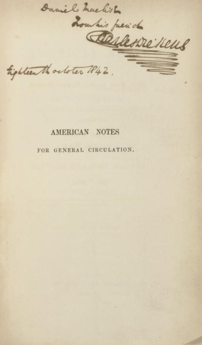 DICKENS, Charles. American Not