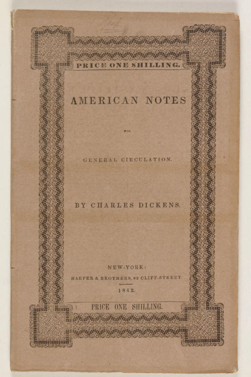 DICKENS, Charles. Amercan Note
